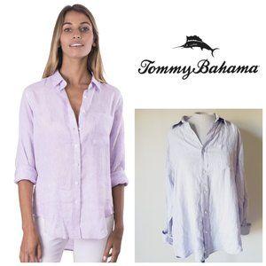 TOMMY BAHAMA 100% Linen Oversized Shirt